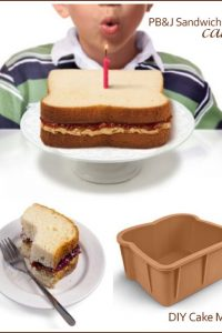 Peanut Butter & Jelly Sandwich Cake