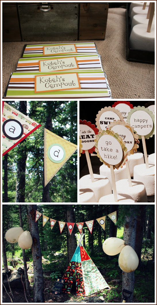 S'more Camp Out Birthday Party
