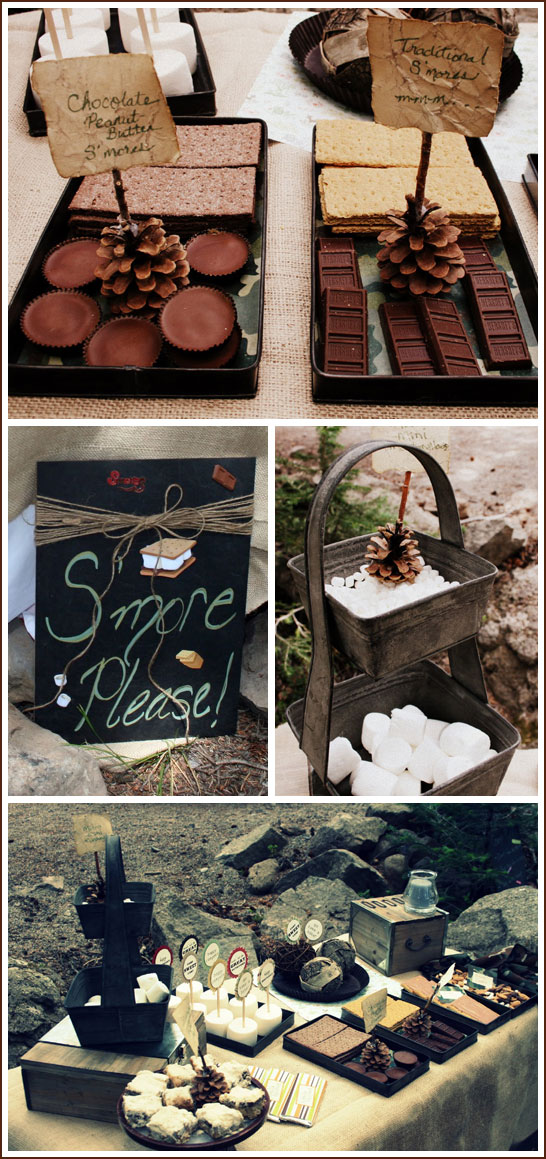S'Mores Camp Out Birthday Party