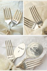 Vintage Hand Stamped Forks for Weddings