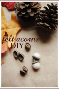 Felt Acorns DIY Tutorial