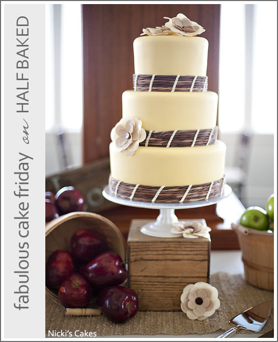 Fall Apple Wedding Cake by Nicki's Cakes