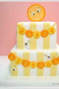 First Birthday Bumble Bee Cake