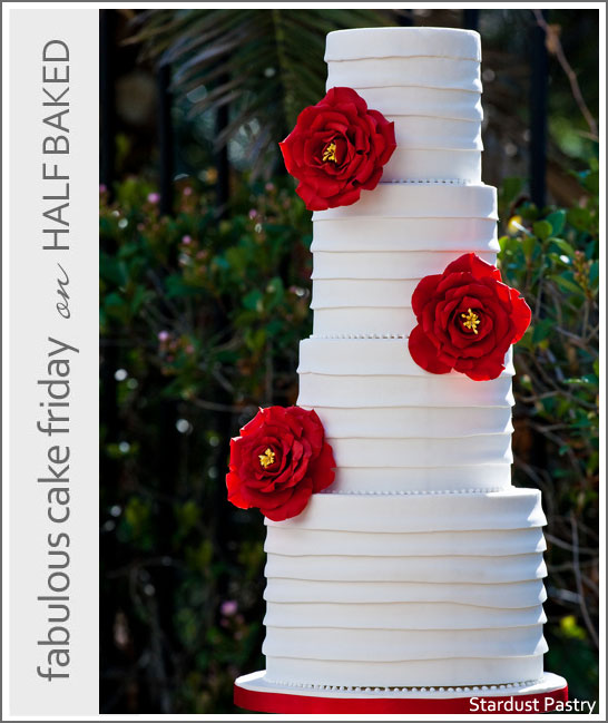 Modern White Bridal Cake by Stardust Pastry