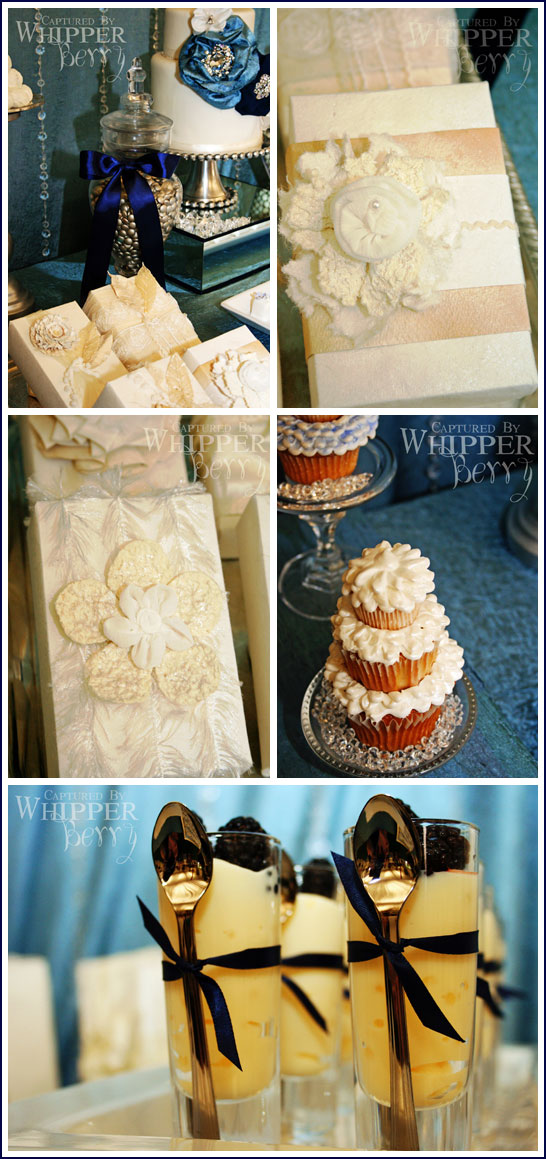 Bridal Dessert Bar in Navy