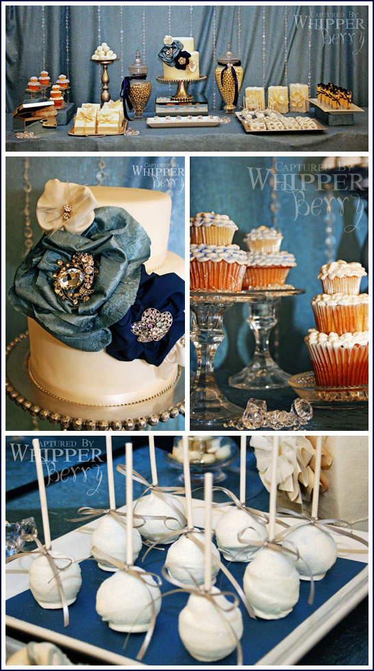 Bridal Dessert Bar in Navy