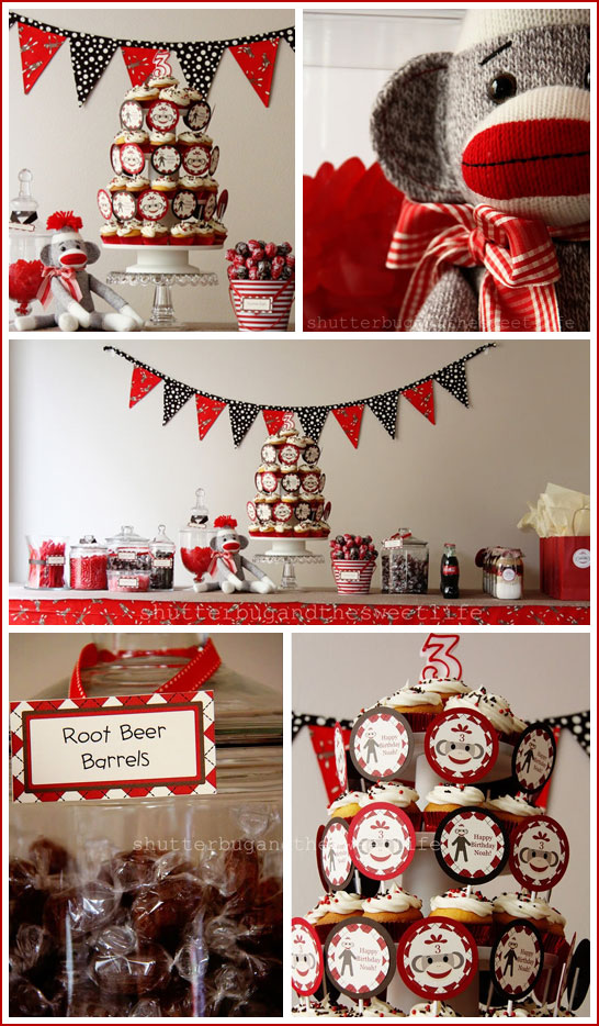 Magnificent Real Party Sock Monkey Birthday The Cake Blog Funny Birthday Cards Online Barepcheapnameinfo