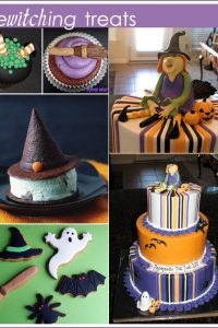 Witch Cake, Cupcakes and Cookies for Halloween