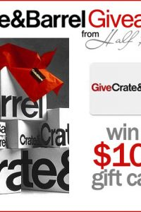 Crate and Barrel Giveaway!