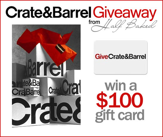 Crate and Barrel Giveaway
