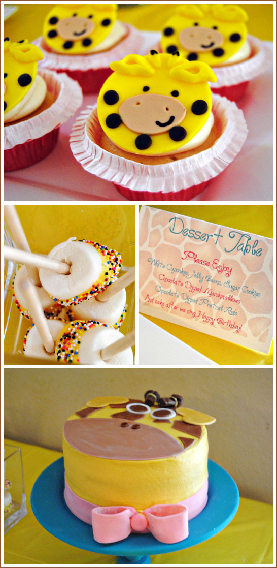 Giraffe Dessert Table