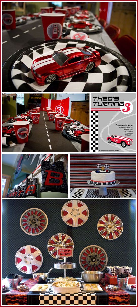 Half Baked – The Cake Blog » Real Party: Race Car Birthday
