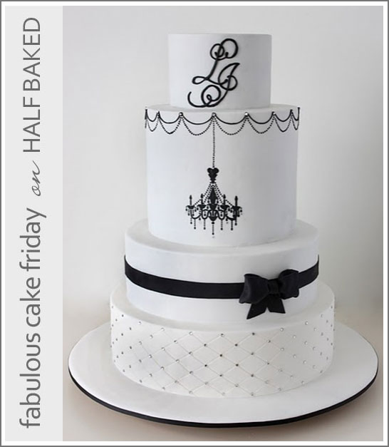 Black & White Cake Chandelier Cake