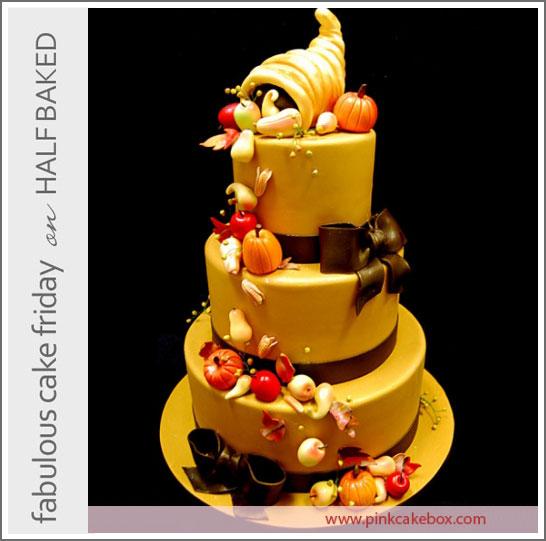 Thanksgiving Cake by Pink Cake Box