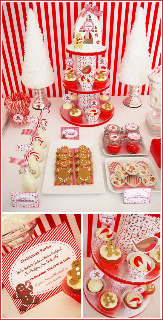 Candyland Christmas Dessert Table