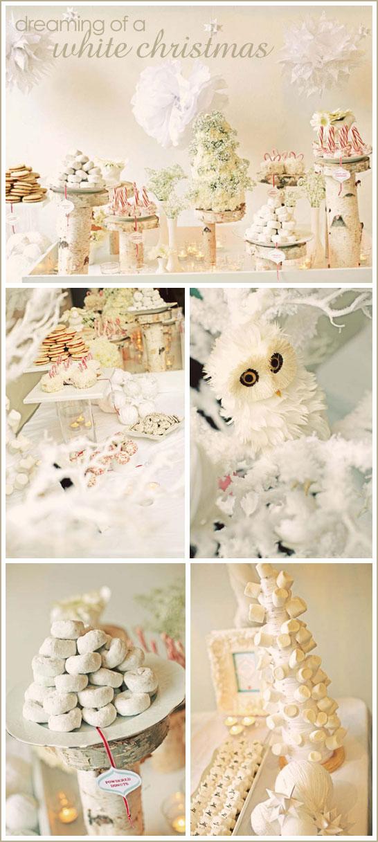 White Winter Wonderland Dessert Table