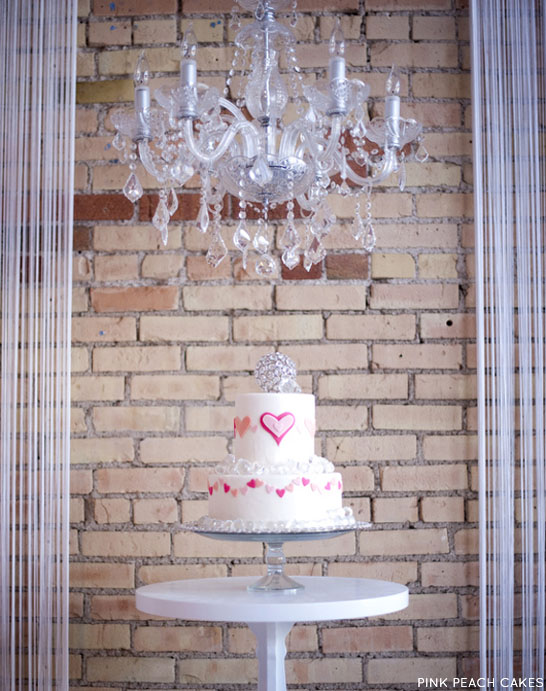 Heart Bunting Cake | by Pink Peach Cakes