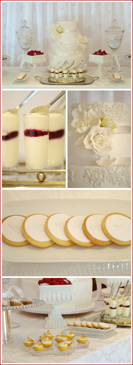 Romantic White Dessert Table