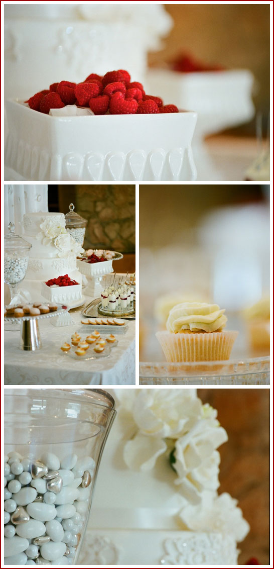 Romantic White Dessert Bar