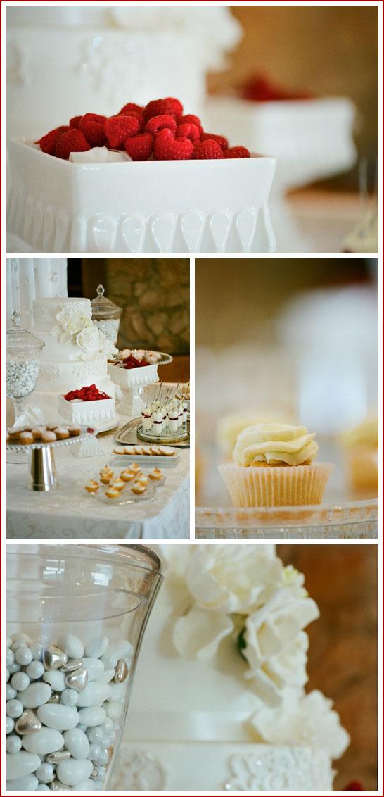 Romantic White Dessert Bar