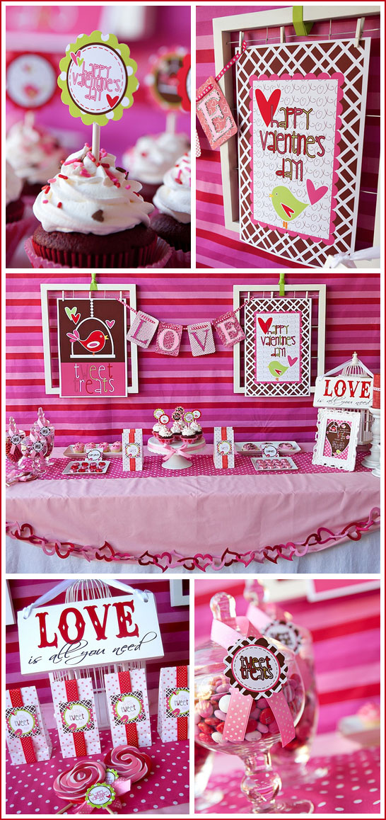 Sweet Tweet Valentines Dessert Table