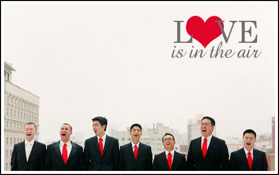 Modern Black & Red Valentine's Wedding