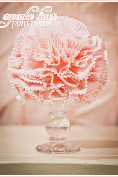 DIY: Cupcake Liner Pom Poms