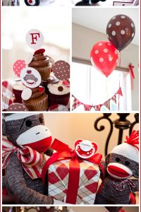 Sock Monkey Baby Shower