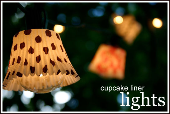 Cupcake Liner Lights