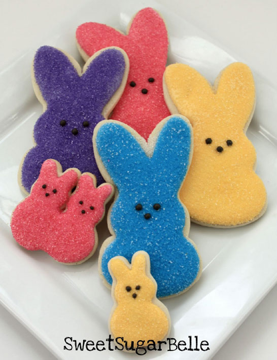 Peeps Cookies by Sweet Sugarbelle | TheCakeBlog.com