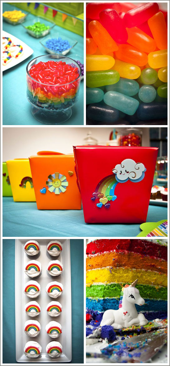 Rainbows and Unicorns Birthday Party