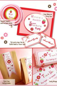 Strawberry Picnic Party Collection