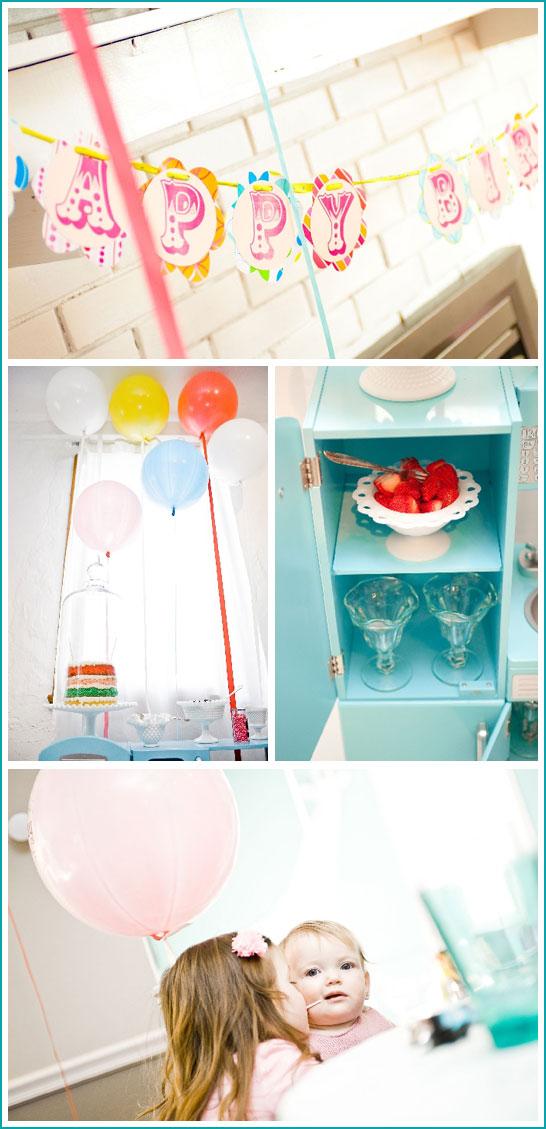 Vintage Balloon Birthday Party