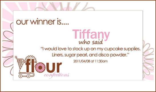 Flour Confections Giveaway Winner