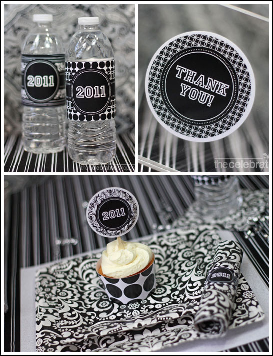 Black & White Graduation Party Supplies