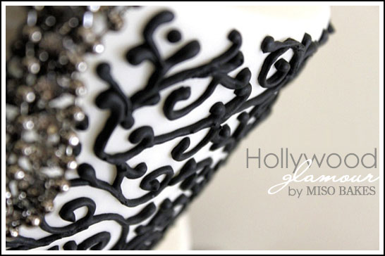 Black & White Hollywood Glamour Cake
