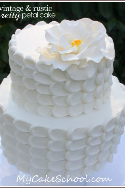 DIY: Vintage Petal Cake