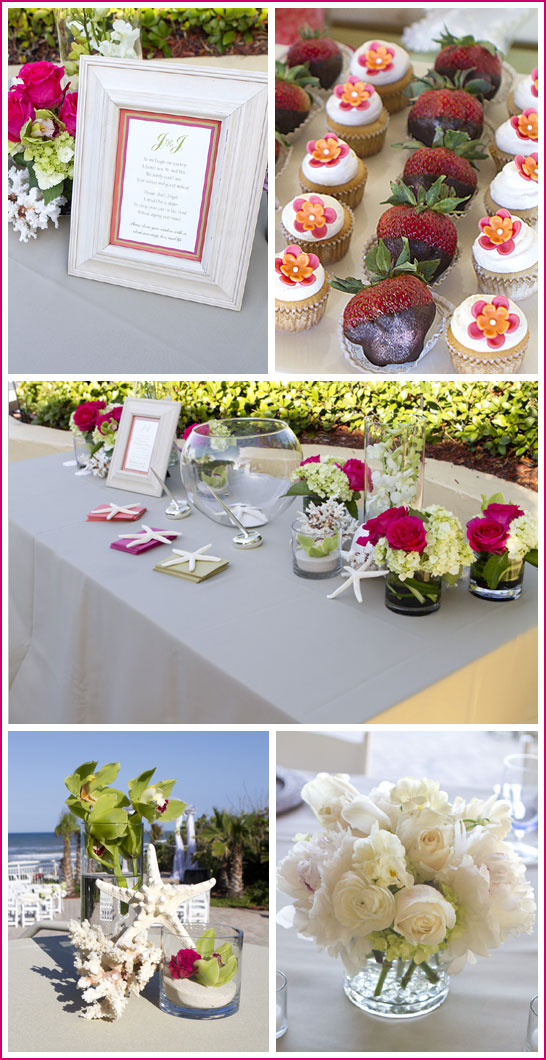 Orange & Pink Beachside Wedding