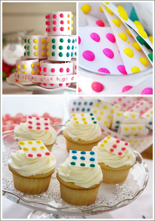 Candy Button Cupcakes