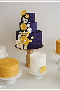 Purple & Yellow Wedding Cake