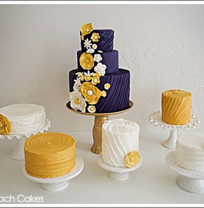 Fab Cake: Plum & Golden Yellow