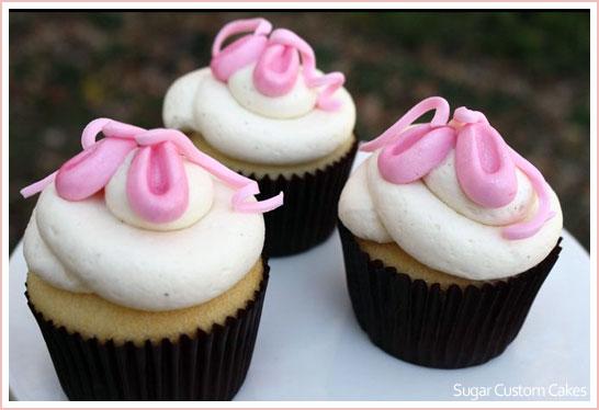 Ballerina Cupcakes by Sugar Custom Cakes
