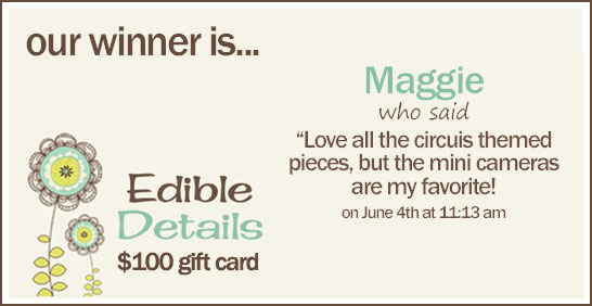 Edible Details Giveaway Winner