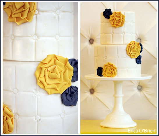 Fabric Flower Cake by Erica O'Brien