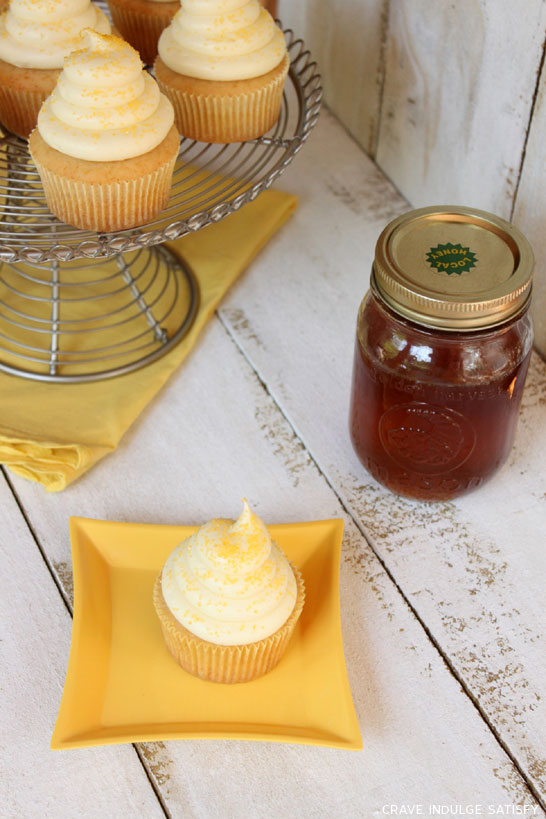 Honey Cupcakes by Lauren Kapeluck  |  TheCakeBlog.com