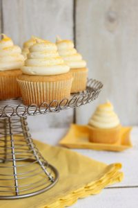 Honey Cupcakes with Honey Cream Cheese Frosting | by Lauren Kapeluck for TheCakeBlog.com