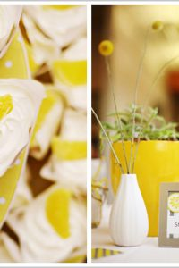 Lemonade Cupcakes - Grey & Yellow Wedding Desserts