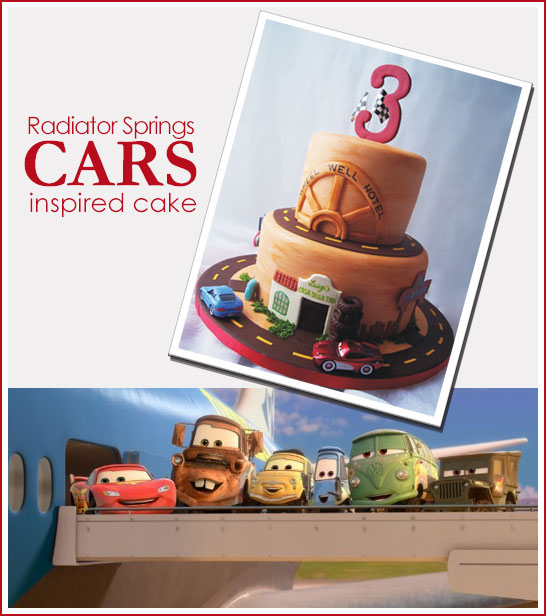 Lightning McQueen Cars 2 Cake by Rebecca Sutterby