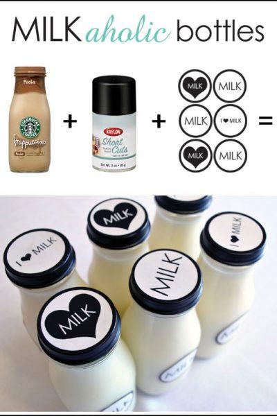 DIY: Milkaholic Bottles {& Free Printables!}