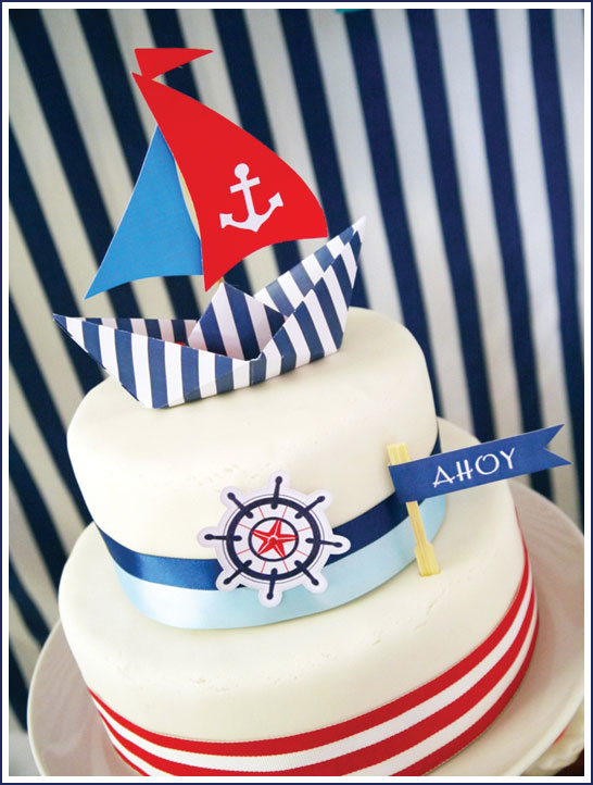 Nautical Cake by Bird's Party
